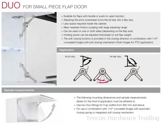 DUO for Small Piece Flap Door
