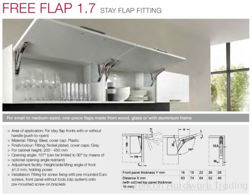 Free Flap 1.7 Stay Flap Fitting