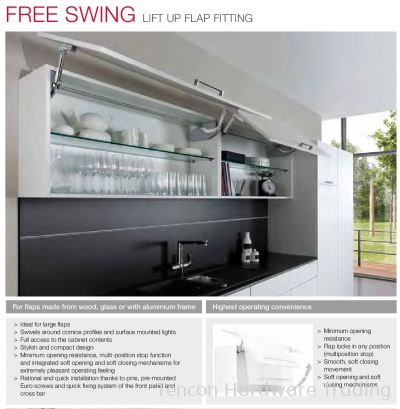 Free Swing Lift Up Flap Setting