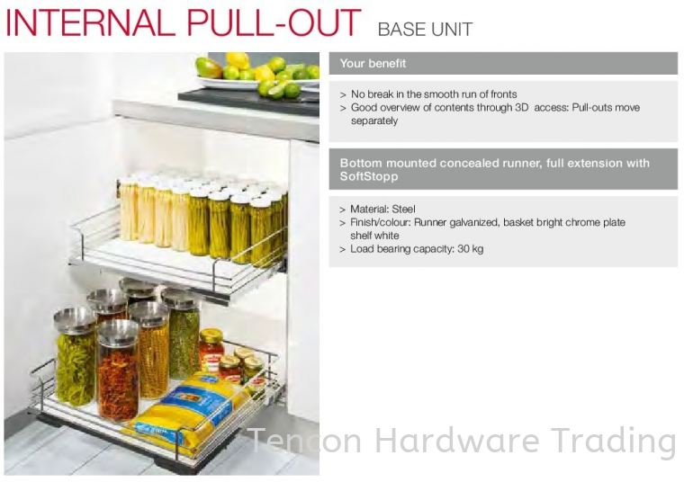 Internal Pull Out Base Unit Internal Pull Out Base Unit Kitchen Storage & Accessories Hafele Kitchen Solution