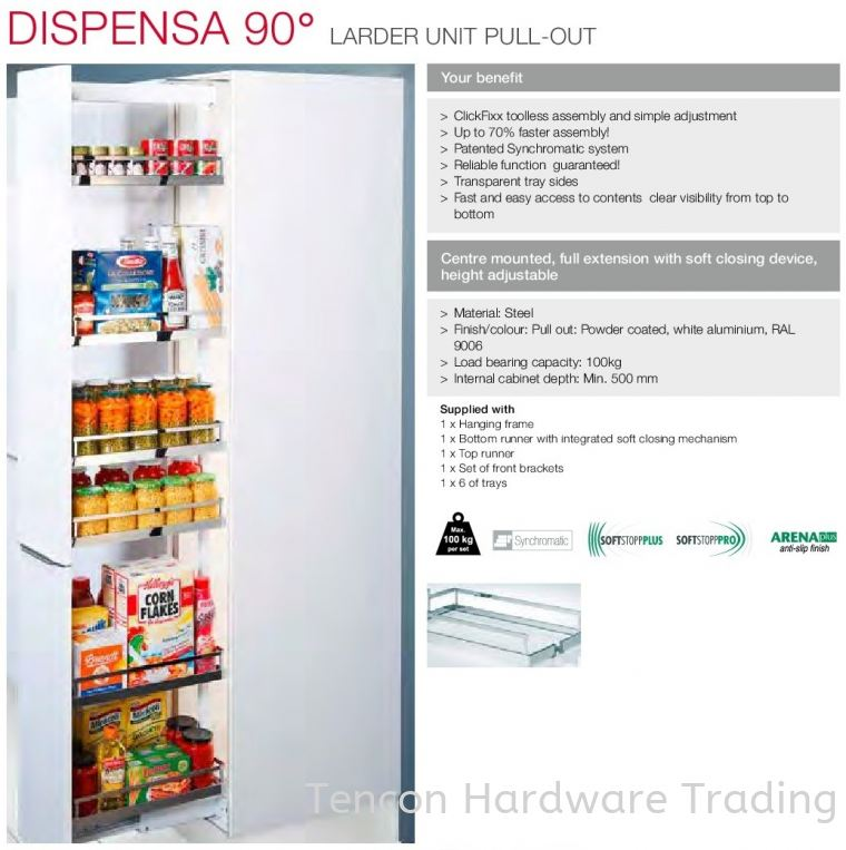Dispensa 90° Dispensa 90° Kitchen Storage & Accessories Hafele Kitchen Solution