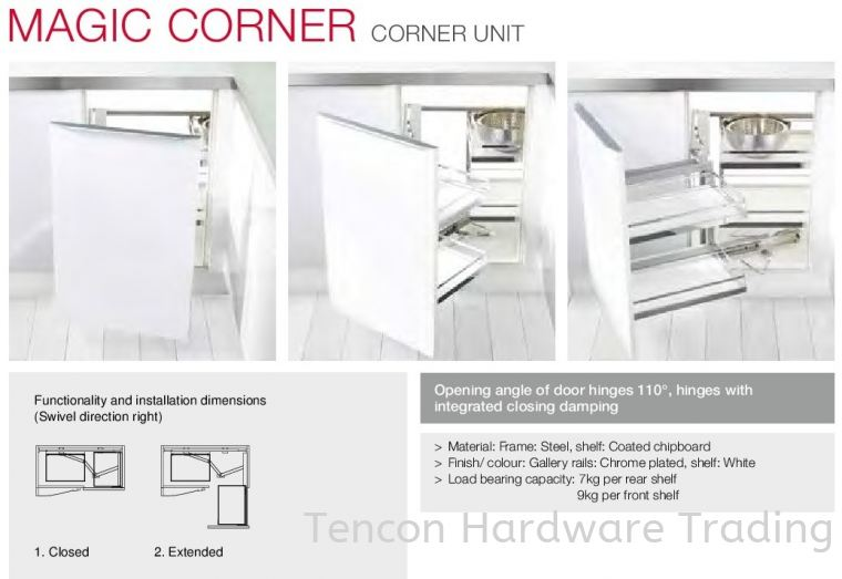 Magic Corner Corner Unit Magic Corner Kitchen Storage & Accessories Hafele Kitchen Solution