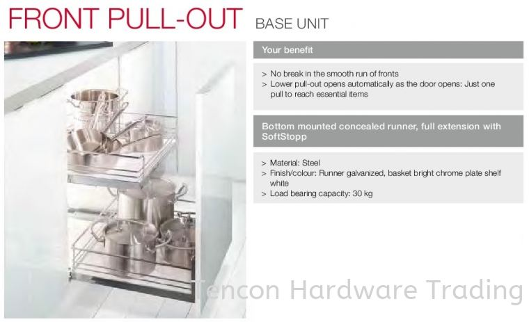Front Pull Out Base Unit Front Pull-out Base Unit Kitchen Storage & Accessories Hafele Kitchen Solution