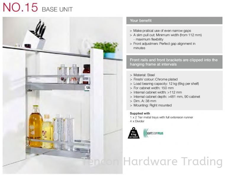 No 15 Base Unit No 15 Base Unit Kitchen Storage & Accessories Hafele Kitchen Solution