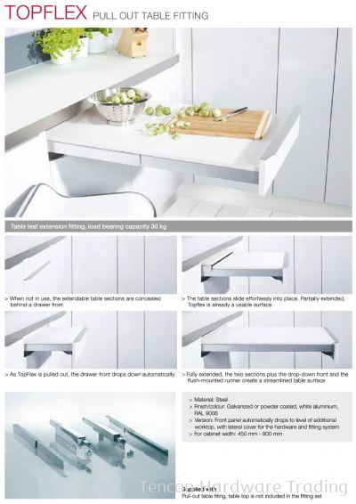 Pull Out Table Fitting