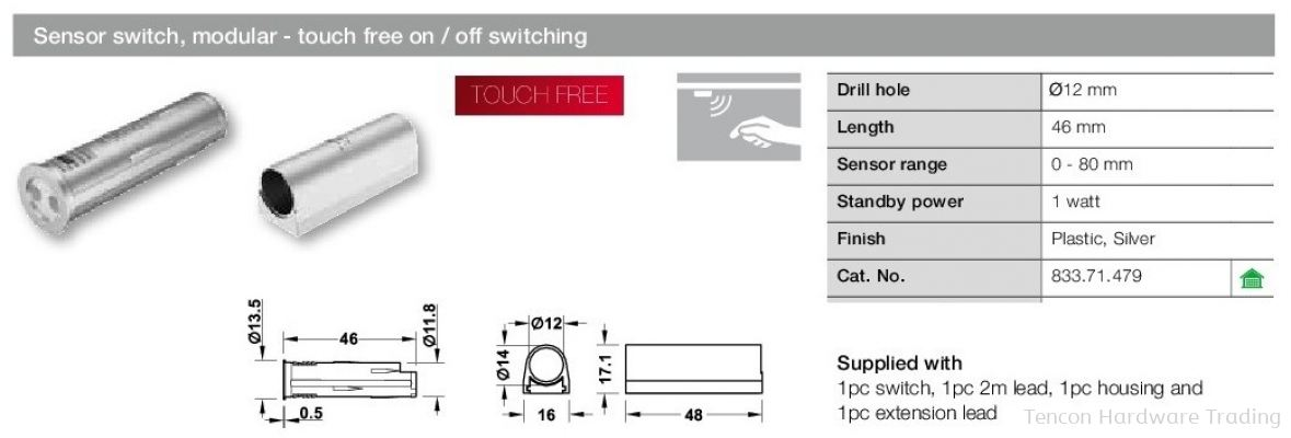 Sensor Switch, Modular - Touch Free On/ Off Switching