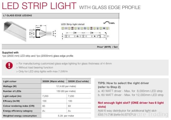 Glass Edge LED2042