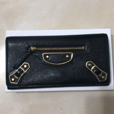 (SOLD) Balenciaga Metallic Edge Long Wallet GHW