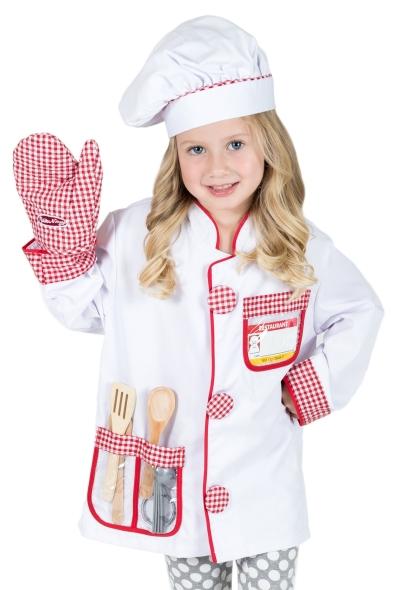C2067 Chef Costume wt Accessories