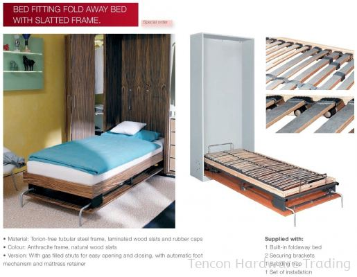 Bed Fitting Fold Away Bed with Slatted Frame