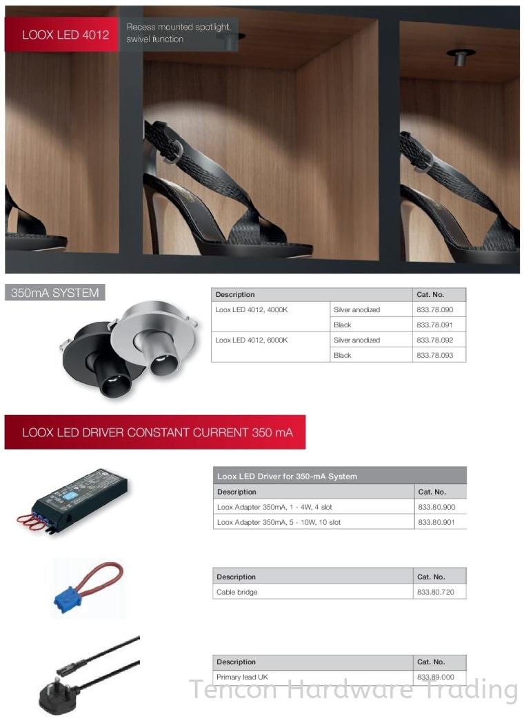 Loox LED LED Lights Lighting Solution Hafele Wardrobe