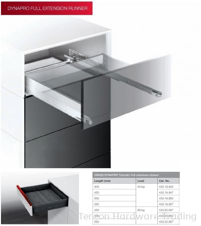 Grass Dynapro Tipmatic Full Extension Drawer