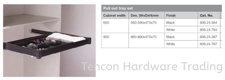 Pull Out Tray Set Pull Out Storage System Premio Wardrobe Fitting Hafele Wardrobe