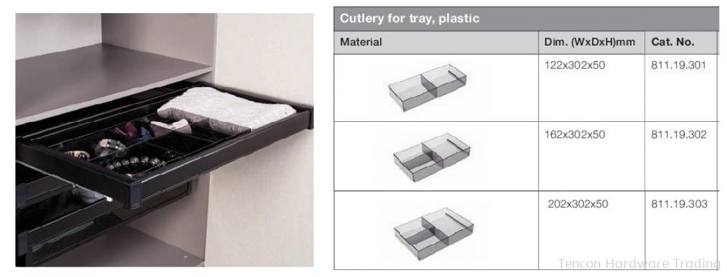 Cutlery for Tray, Plastic