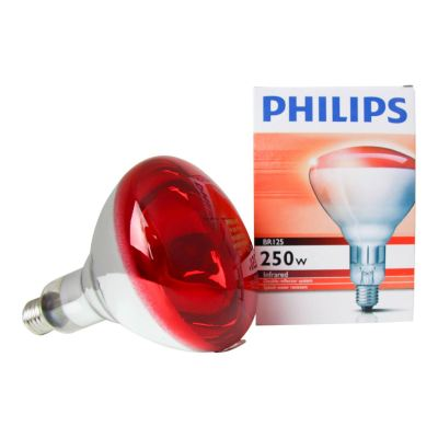Philips BR125 IR 250W E27 230-250V Red Infrared