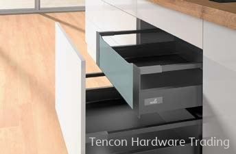 Internal Pot-and-Pan Drawer 200 with Railing, Height 144mm Internal Pot-and-Pan Drawer Hettich