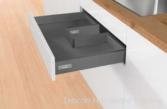 Drawer with Bottom Cutout, Height 70mm Drawer Hettich