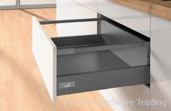 Pot-and-Pan Drawer with Railing, Height 176mm Pot-and-Pan Drawer Hettich