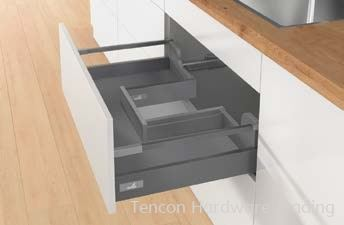 Pot-and-Pan Drawer with Bottom Cutout, Height 144mm Pot-and-Pan Drawer Hettich