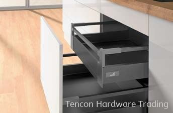 Internal Pot-and-Pan Drawer 100 with Railing, Height 144mm Internal Pot-and-Pan Drawer Hettich