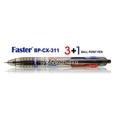 Faster 3+1 Ball Point Pen