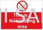 No Smoking Sign Safety Signage