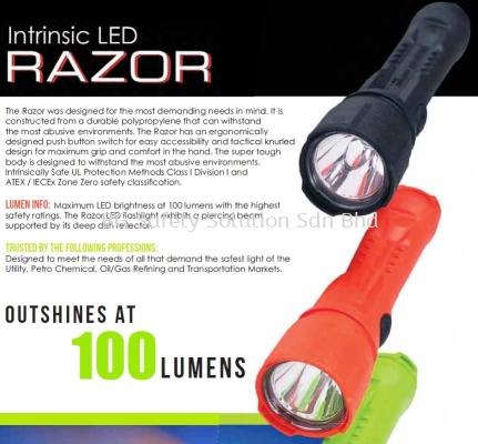 BRIGHTSTAR ZONE 0 LED RAZOR SAFETY FLASHLIGHT