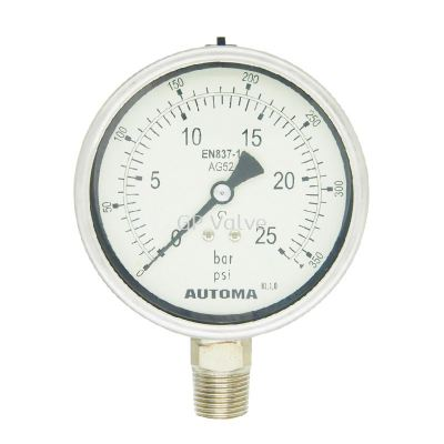 AUTOMA BAYONET FULLY STAINLESS STEEL PRESSURE GAUGE