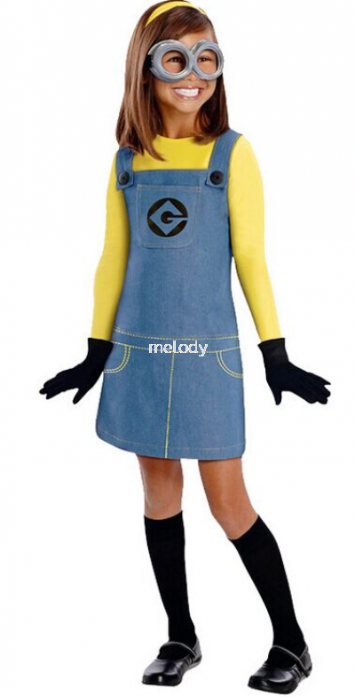 Minion Girl Kid Costume