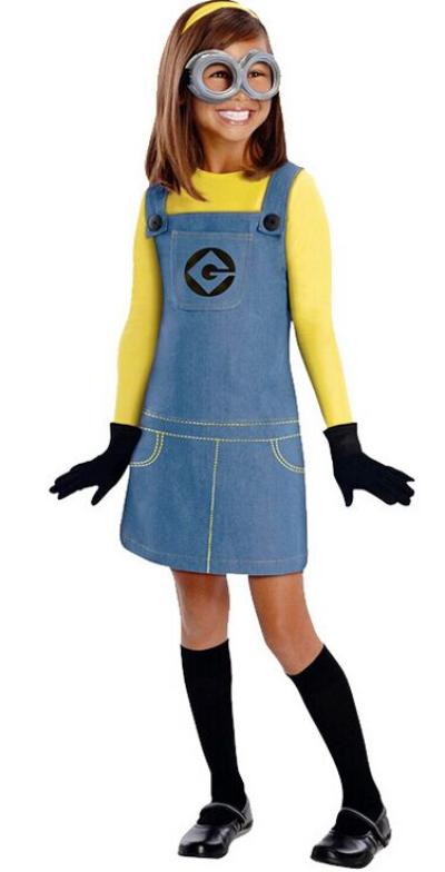 Minion Girl Kid Costume