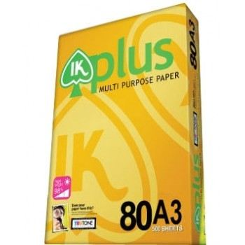 IK Plus A3 80gsm Photostat Paper-500 Sheets