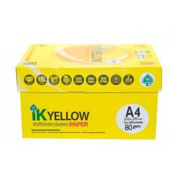 IK Yellow A4 Paper 80GSM-450 Sheets (Carton)