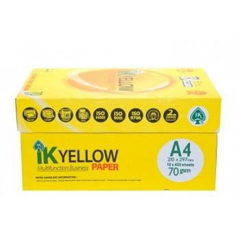 IK Yellow A4 Paper 70GSM-450 Sheets (Carton)