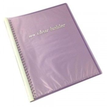 Clear Holder PVC File 359A A4 Size 32 Holes Purple