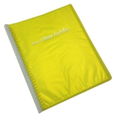 Clear Holder PVC File 359A A4 Size 32 Holes Yellow