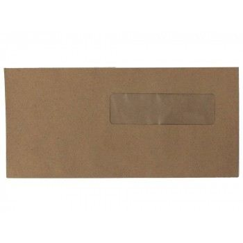 "Brown Window Envelope 4"" X 9: (500 PCS)"