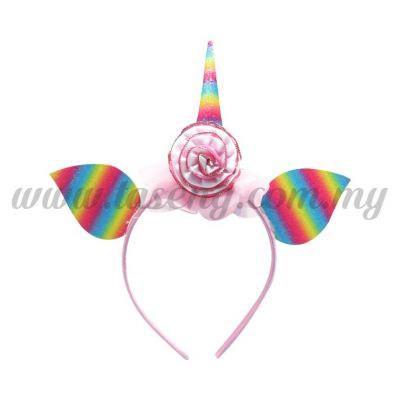 Hairband 20 UNICORN *Rainbow Pink(DU-HB20-6P)