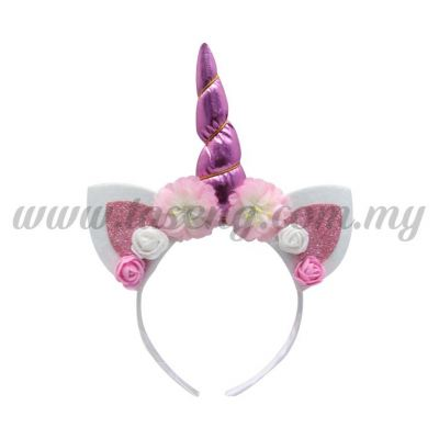 Hairband 20 UNICORN *Glitter Pink (DU-HB20-4P)