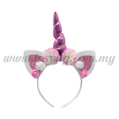 Hairband 20 UNICORN *Glitter Pink (DU-HB20-4P)