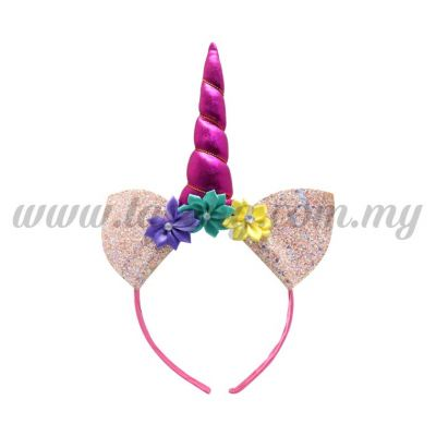 Hairband 20 UNICORN *Magenta Sequin Peach (DU-HB20-5MA)