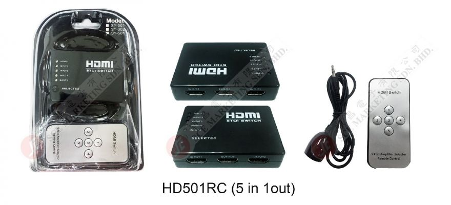 HDMI SELECTOR HD501RC