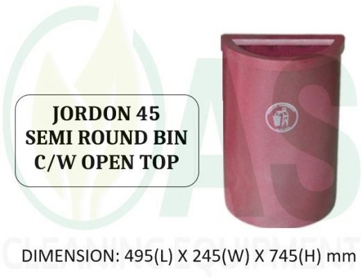 JORDON 45 SEMI ROUND BIN C/W OPEN TOP