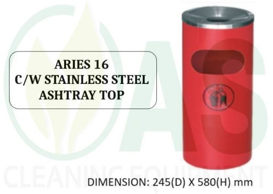 ARIES 16 C/W STAINLESS STEEL ASHTRAY TOP