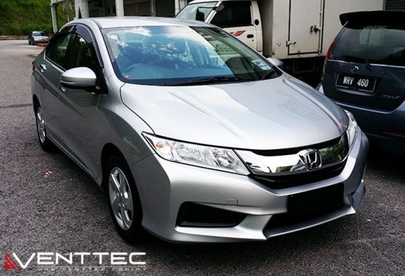 HONDA CITY (4��=100MM) venttec door visor