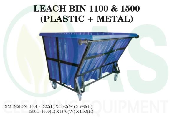 LEACH BIN 1100 & 1500 (PLASTIC + METAL)