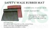 Safewalk Rubber Mat Floor Mat