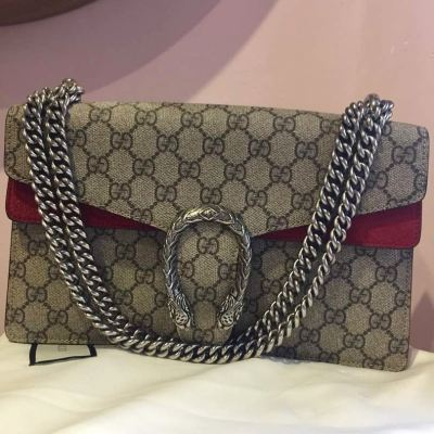 (SOLD) Gucci Dionysus Medium Handbag with Red Leather