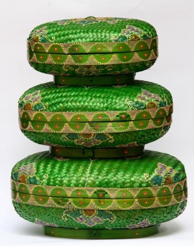Green Oval Bamboo box