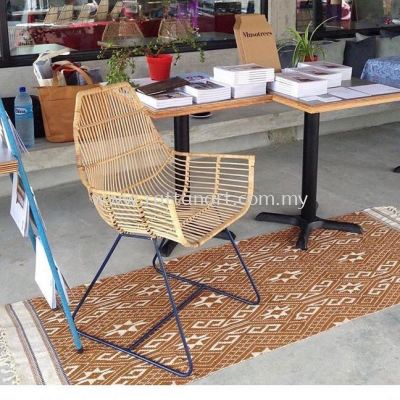 RATTAN + METAL DINING CHAIR BOULEVARD