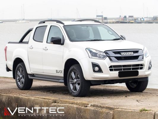 ISUZU D-MAX 2012 (4�� = 100MM) VENTTEC DOOR VISOR